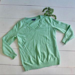 Old Navy Mint Green V Neck Knit Sweater